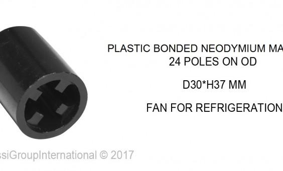 PLASTIC BONDED NEODYMIUM MAGNET 24 POLI