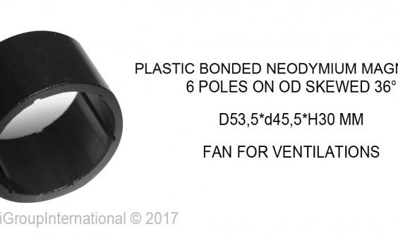plastic bonded neodymium magnet 6 poli